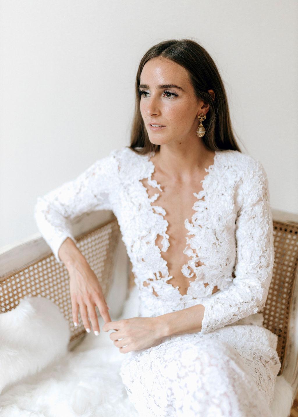 Brautkleid aus Baumwollspitze
