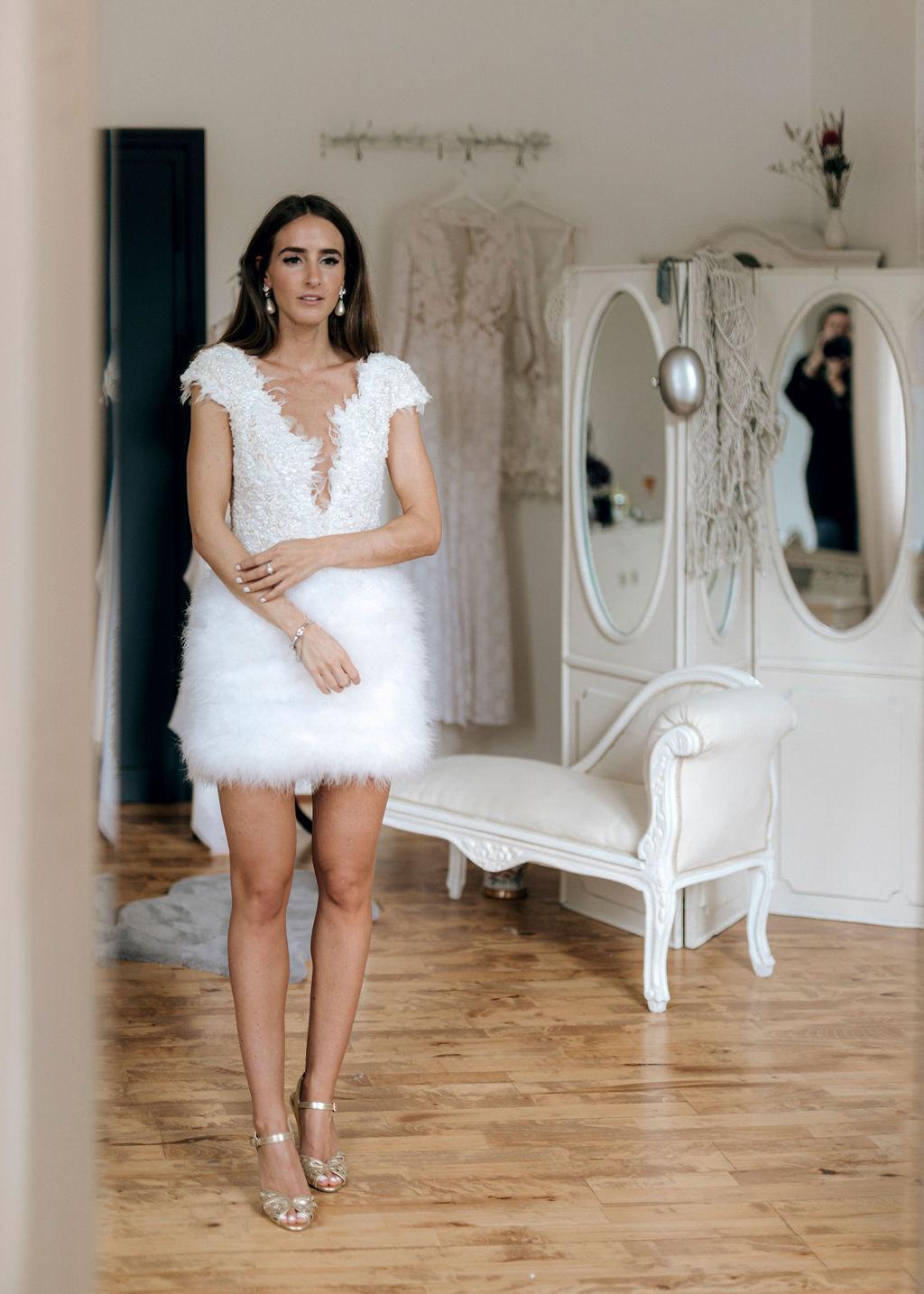 Brautkleid kurz für die Party
