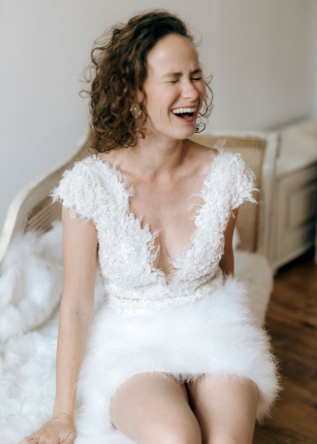 Brautkleid Handarbeit kurz