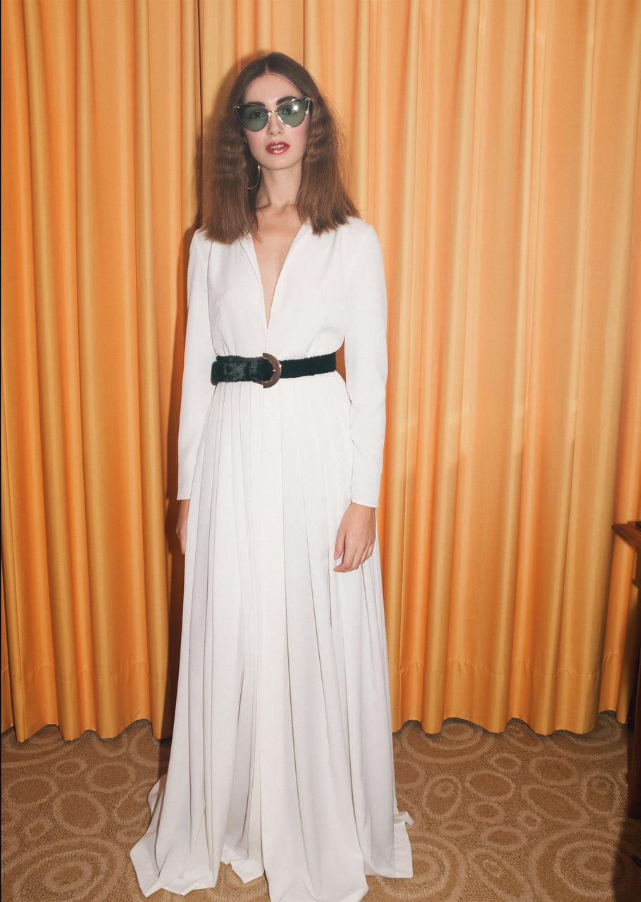 Hemdblusen Brautkleid im pariser Chic