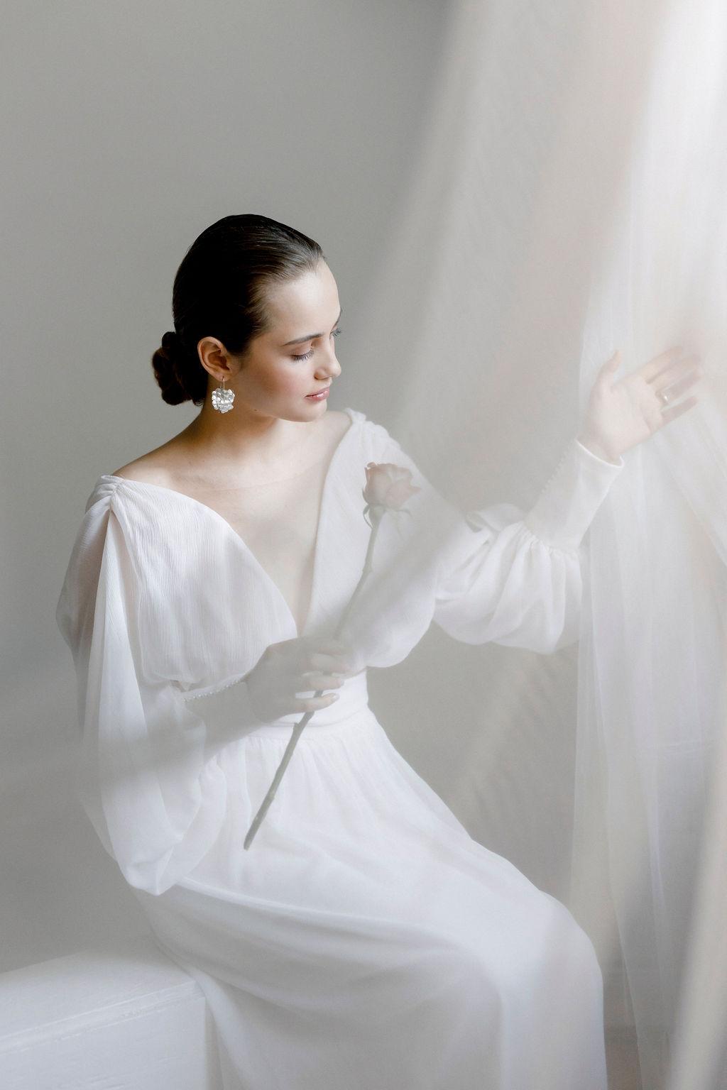 Sinnliche Brautmode aus Seide