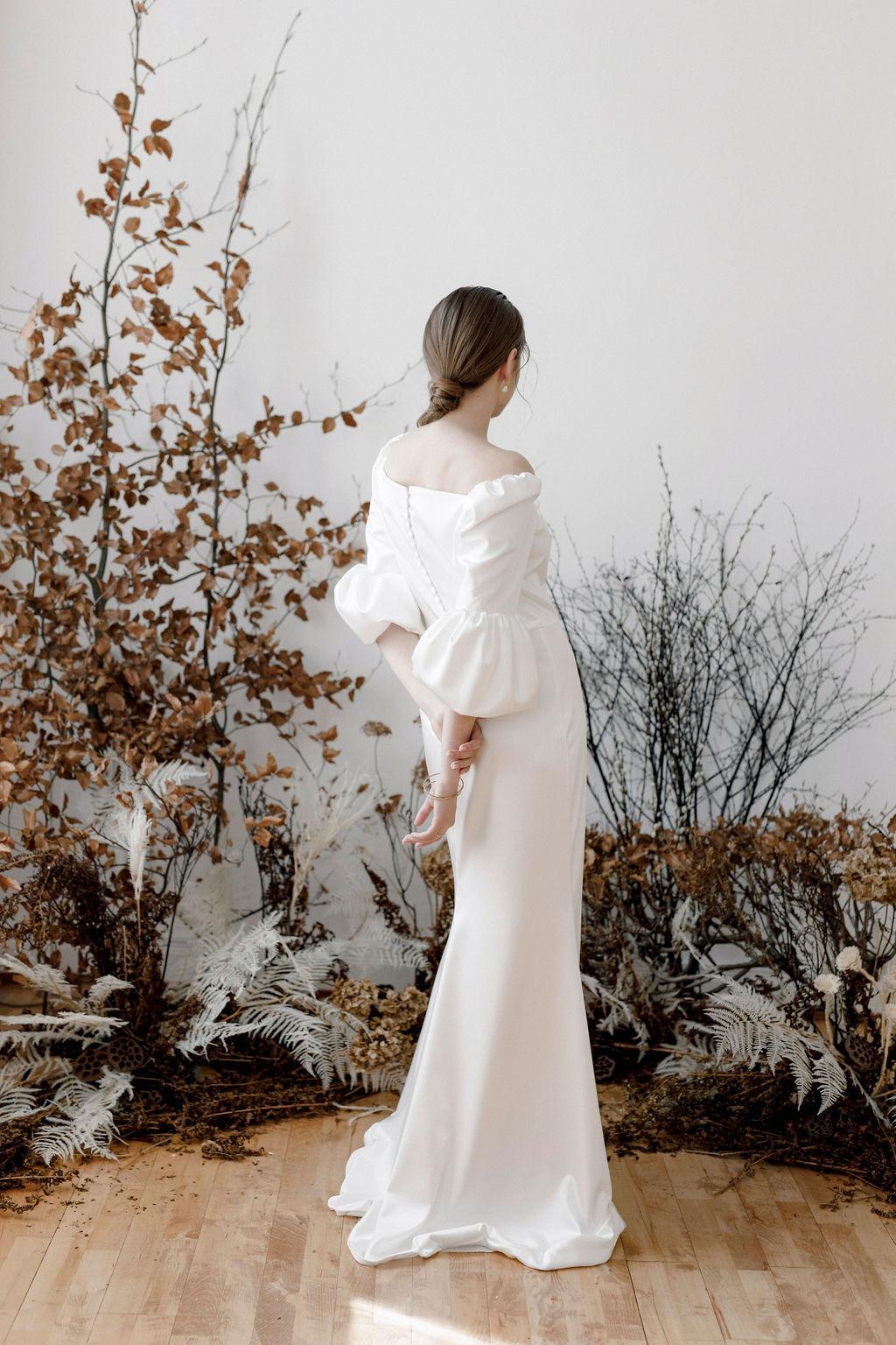 Brautkleid in moderner Silhouette