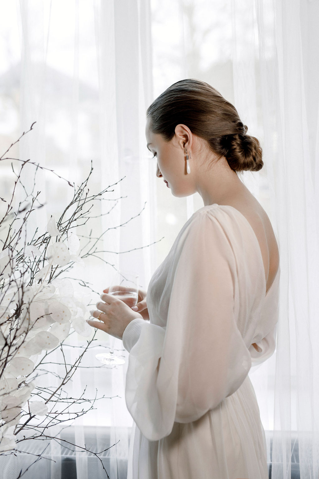 Brautkleid aus zarter Seide