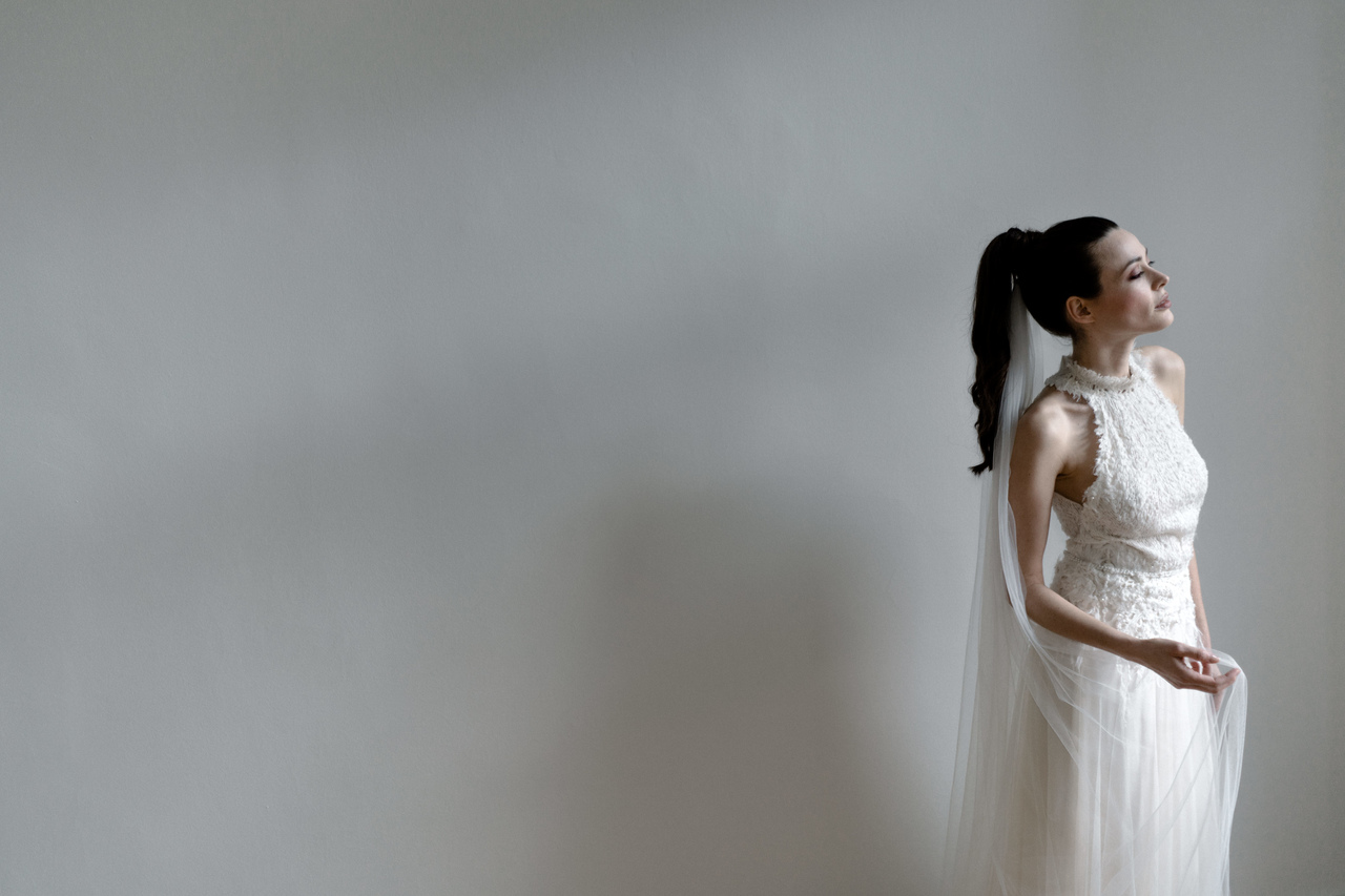 Moderner Brautlook