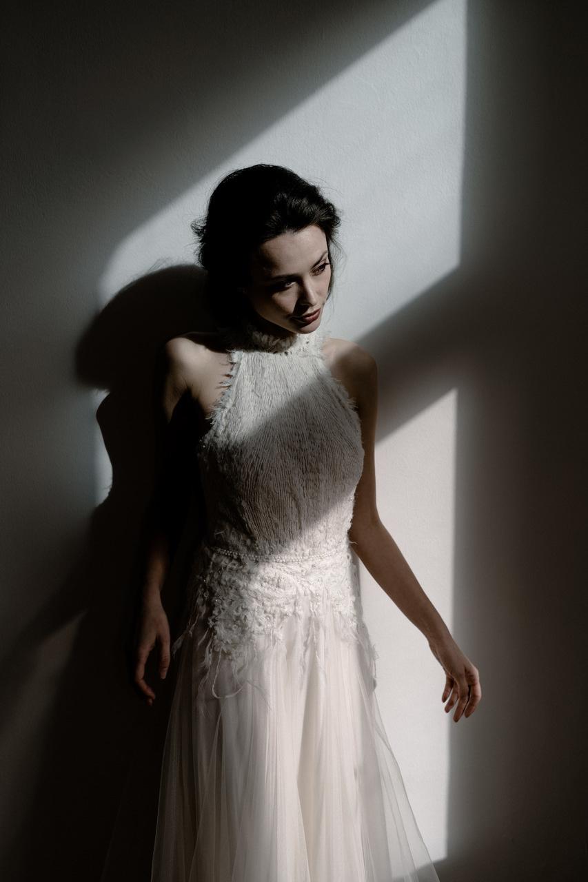 Brautkleid mit Neckholder